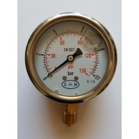 Manometer with glycerine M63 0..10 bar